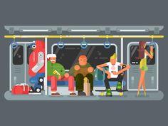 Subway by Anton Fritsler (kit8) #Design Popular #Dribbble #shots