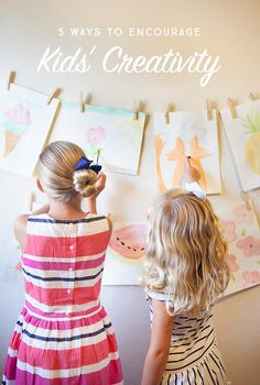 Creative expression is essential for kids | Tips and ideas for fostering creativity with our children.