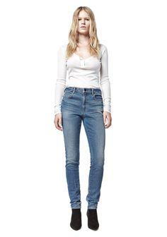 Wang 001 Slim Fit Jeans in Dark Blue