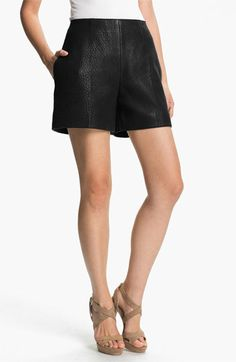 Carven High Waist Leather Shorts available at Nordstrom