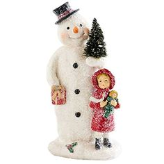 Snowman Holding Tree Girl Christmas Decor 75 NeW -- This is an Amazon Affiliate link. Continue to the product at the image link.