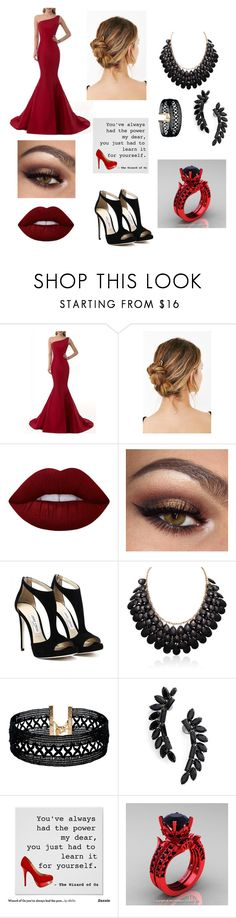 """""""Queen"""" by joshisdunwithyou ❤ liked on Polyvore featuring Urban Outfitters, Lime Crime, Vanessa Mooney and Cristabelle"""