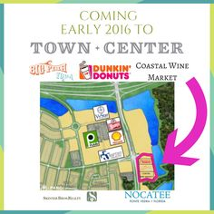 Skinner Bros. Realty is bringing Dunkin' Donuts and more retail to Nocatee Town Center. Details on this BIG announcement on the Nocatee Blog!