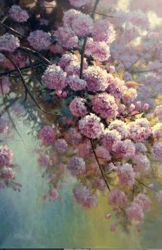 Por amor al arte: Michael Godfrey Abstract Flowers, Watercolor Flowers, Watercolor Art, Beautiful Landscape Wallpaper, Beautiful Paintings, Global Art, Art Day, Flower Art, Creations