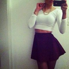 Crop top mini skirt