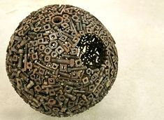 Junk Metal Art Works | Scrap Metal Planets spheres sculpture recycling metal