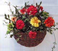 Summer Zinnia Basket - Creative Decorations by Ridgewood Designs