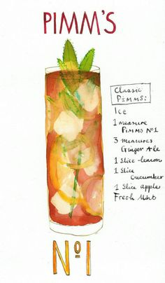 Make sure you drink Pimm's Cup cocktails while watching the matches! Brought to you by Shoplet UK-everything for your business! Cocktail Drinks, Cocktail Recipes, Alcoholic Drinks, Beverages, Pimms Drink, Cocktail Ideas, Recipes Dinner, Snacks Für Party, Cocktail