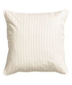 Striped Accent Decorative 100% Cotton Canvas Stripe Throw Pillow Cover Cushion 20-by-20 inch Reversible Light Taupe Beige White, http://www.amazon.com/dp/B014I2C10M/ref=cm_sw_r_pi_awdm_45Olwb0XR92F6