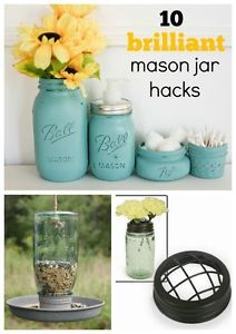 The abundance and timeless style of mason jars has lead to this style icon being used as outside of the kitchen as in. The jar has become so much more than simply a canning tool, and here are some of hacks...