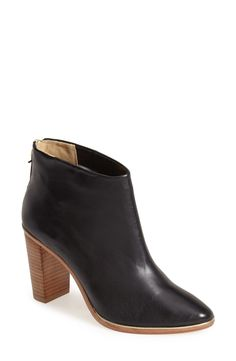 Definitely need a pair of these black leather booties.