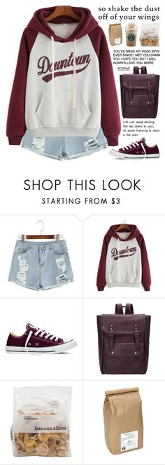 """""""Romwe 4"""" by scarlett-morwenna ❤ liked on Polyvore featuring Converse, Davidson's, vintage, women's clothing, women's fashion, women, female, woman, misses and juniors"""