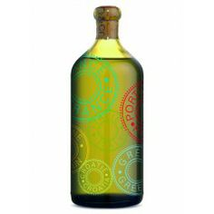 Limited Edition Olive Oil Decanter - Tinted bottle decorated with six stamps representing the diversity and full traceability of our oils. Paired with our stainless steel pourer, it is the perfect decanter for your olive oils!