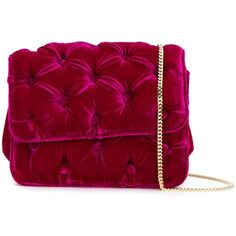 Benedetta Bruzziches 'Carmencita' shoulder bag (3.710 HRK) ❤ liked on Polyvore featuring bags, handbags, shoulder bags, purses, benedetta bruzziches, red shoulder bag, shoulder bag purse, velvet purse and pink handbags