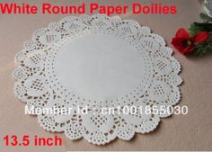 Wholesale Romantic Embossed Round Paper doily Cake Doilies 13.5 inch (200pcs ) Free shipping ,have different size in our Store!! US $30.50