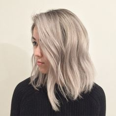Another black virgin head turned a shade of grey by (at Ramirez Tran Salon) Dye My Hair, New Hair, Blonde Hair Looks, Cool Toned Blonde Hair, Beige Blonde Hair, Asian Hair, Silver Hair Asian, Hair Color And Cut, Hair Highlights