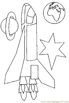Space Shuttle Coloring Page 07
