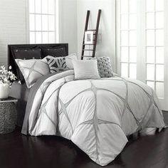 Vue By Ellery Cersei 3-Piece Grey Queen Comforter Set 14303Beddquecrm