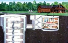 House with a missile silo bunker. Call me crazy, but I would happily live in that house :D