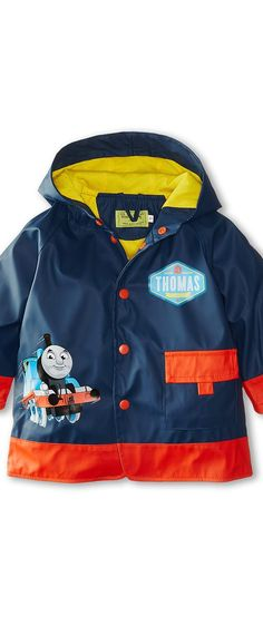 Western Chief Kids Thomas Blue Engine Raincoat (Toddler/Little Kids) (Navy) Boy's Coat - Western Chief Kids, Thomas Blue Engine Raincoat (Toddler/Little Kids), 655034-421, Apparel Top Coat, Coat, Top, Apparel, Clothes Clothing, Gift - Outfit Ideas And Street Style 2017