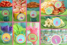 Mermaid Party Printables and Food Ideas