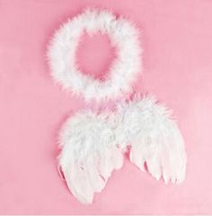 2014 New 1set Infant Newborn Photo Prop Baby Kids Angel Fairy Feather Wing Costume for Children's Christmas Present Items 870565