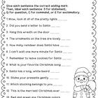 This FREEBIE from 2nd grade Snickerdoodles asks students to read sentences, add the correct ending mark, and classify them as a statement, question...