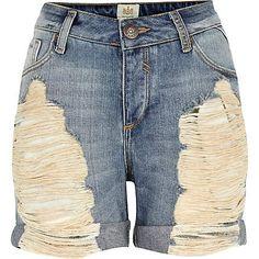 Girls Denim Cut Off Shorts | Cut Off Jean Shorts Woman Wallpaper ...