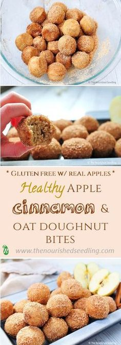 Snacks for Kids   Healthy donut bites with apple and cinnamon! Low sugar kids snack