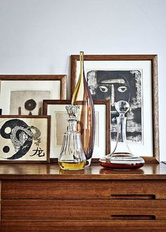 H&M Home's Head of Design Masters the Art of High & Low // decanters, frames