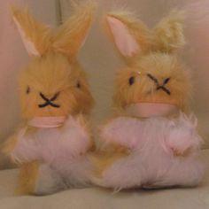 Yellow Plush Baby Rabbits Treasure Bunnies Baby by COLDHAMCUDDLIES