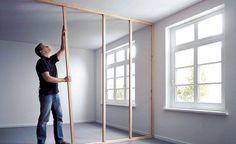 Trennwand aus Holzprofilen: Schritt 4 von 9