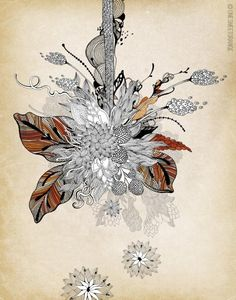 Floral 2 - Giclee Print, 11x14