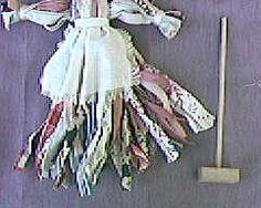Make a Nettie Doll with Rag Rug Strip - Civil War