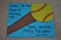 Softball or Baseball quote (can make either)... www.etsy.com/AnnaCarolinesCrafts