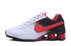784fce3c862 Nike Shox Deliver White Red Black Mens Running Shoes Mens Running