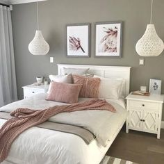 15 Modern Bedroom Interior Design Ideas That Make You Look Twice Cute Bedroom Decor, Dining Room Wall Decor, Bedroom Colors, Decoration Bedroom, Decor Room, Chic Bedroom Ideas, Spare Bedroom Ideas, Bedroom Color Schemes, White Bedroom Furniture Decorating Ideas