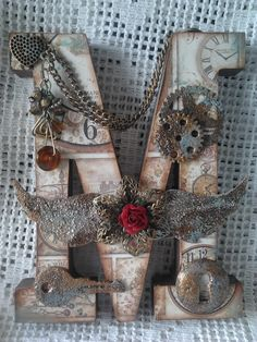 Lace & Pearls Handmande Creations* Steampunk Letter <3