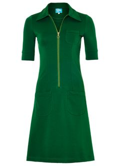 Tante Betsy dress SUMMER ZIPPIE green / suuupernice lykke-grøn lynlåskjole