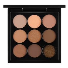 MAC 'Amber Times Nine' Eyeshadow Palette ($32) ❤ liked on Polyvore featuring beauty products, makeup, eye makeup, eyeshadow, beauty, accessories, sombras, palette eyeshadow, mac cosmetics and mac cosmetics eyeshadow