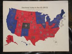 Color a map during the election. Fun for everybody! :)