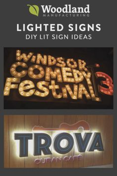 Lighted signs ideas from our creative customers. Make inexpensive lit signs with wood and LED lights or go sleek and modern with lighted metal signs.