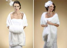 #FurStoles for New England winter weddings