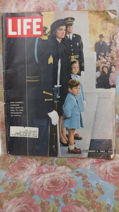 Offered is an original December 6 1963 LIFE magazine, featuring Jacqueline Kennedy and the children ready for JFKs funeral.  - 158 pages.  -