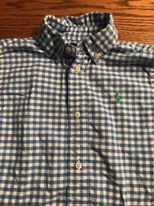 Polo, Ralph Lauren Boys Size 5, Blue, White Plaid Long Sleeve Shirt EUC  | eBay