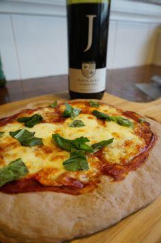 Red Wine Pizza Dough Cooked #pizza #wine #recipe