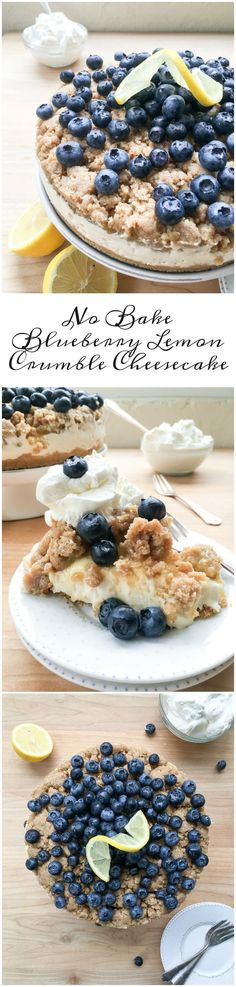 This No Bake Blueberry Lemon Crumble Cheesecake is delicious, zesty and filled with fresh blueberries! Top it off with some Vanilla Whipped…