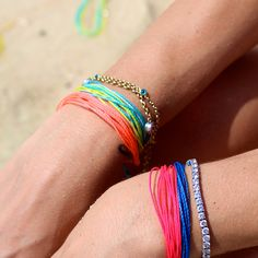 ohsoWristCandy - colourful waterproof bracelets, perfect for yoga, pilates, cross-fit.