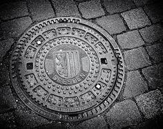 manhole cover, Dresden, Germany