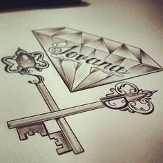Diamond with keys of paradise
